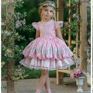 Dollcake Garden Display Pink Embroidered Dress